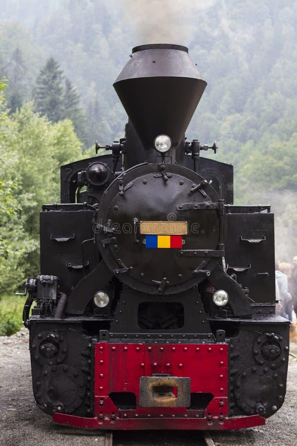 Framdel för ångadrevlokomotiv arkivfoto