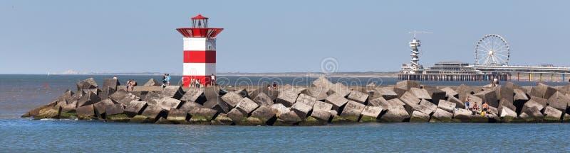 Framdel för Haag nederländsk havsfyr royaltyfria foton