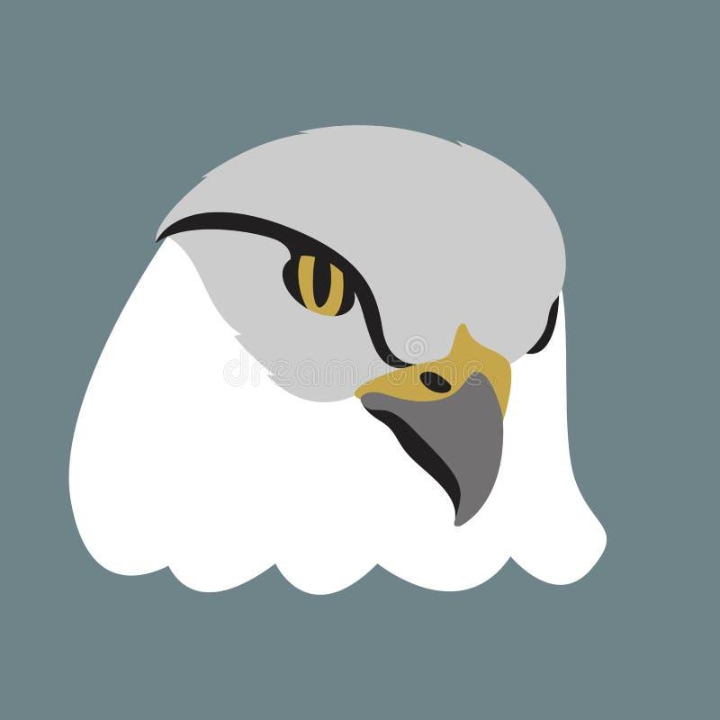 Framdel för lägenhet för stil för illustration för Eagle huvudvektor vektor illustrationer