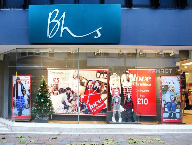 Framdel för lager för diversehandel för BHS-britthem royaltyfri foto