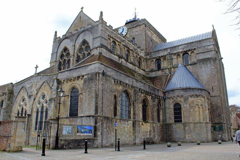Framdelen av den Romsey abbotskloster royaltyfri bild
