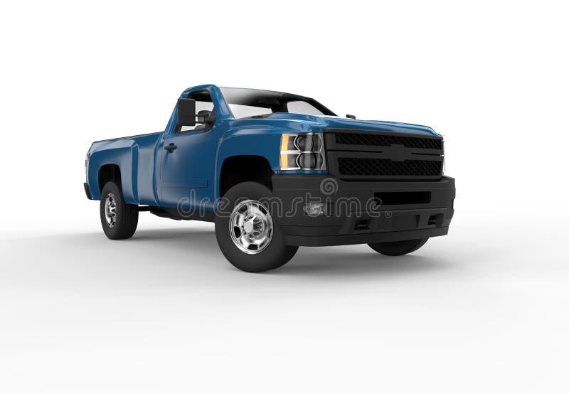 Framdelen av ett blått väljer upp lastbilen vektor illustrationer