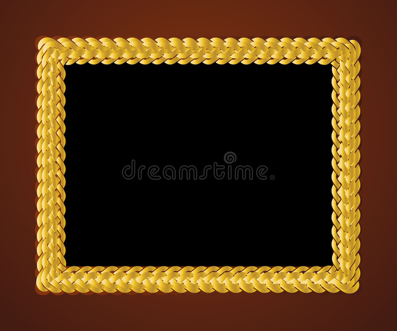 Download Frame 11 stock vector. Image of decoration, abstract, gold - 7692810