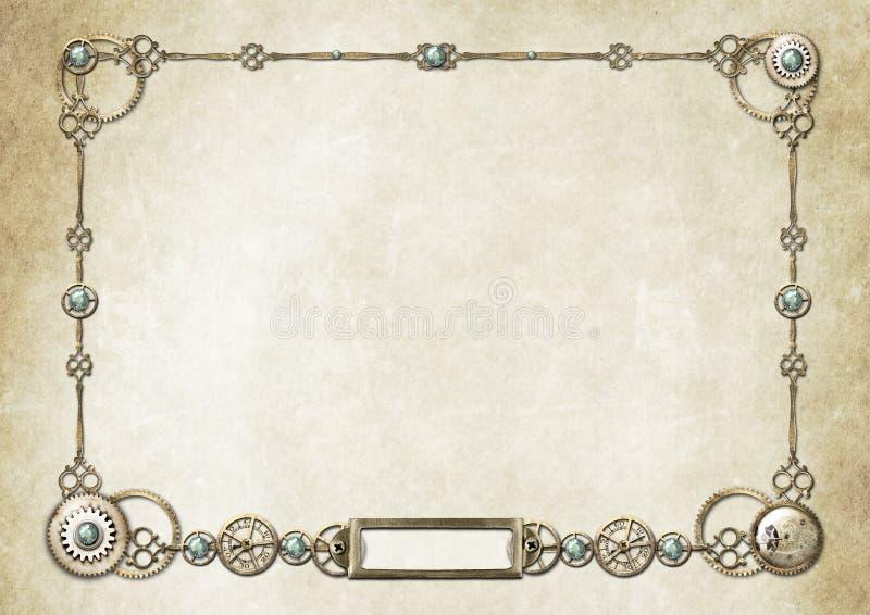 Frame 2 de Steampunk ilustração do vetor