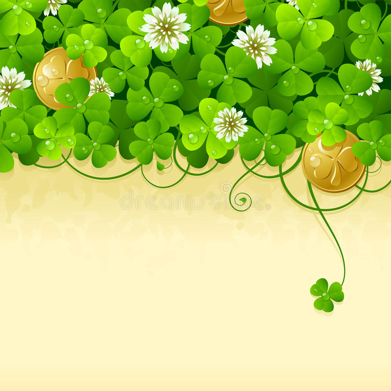 Frame 2 do dia do St. Patrick ilustração do vetor