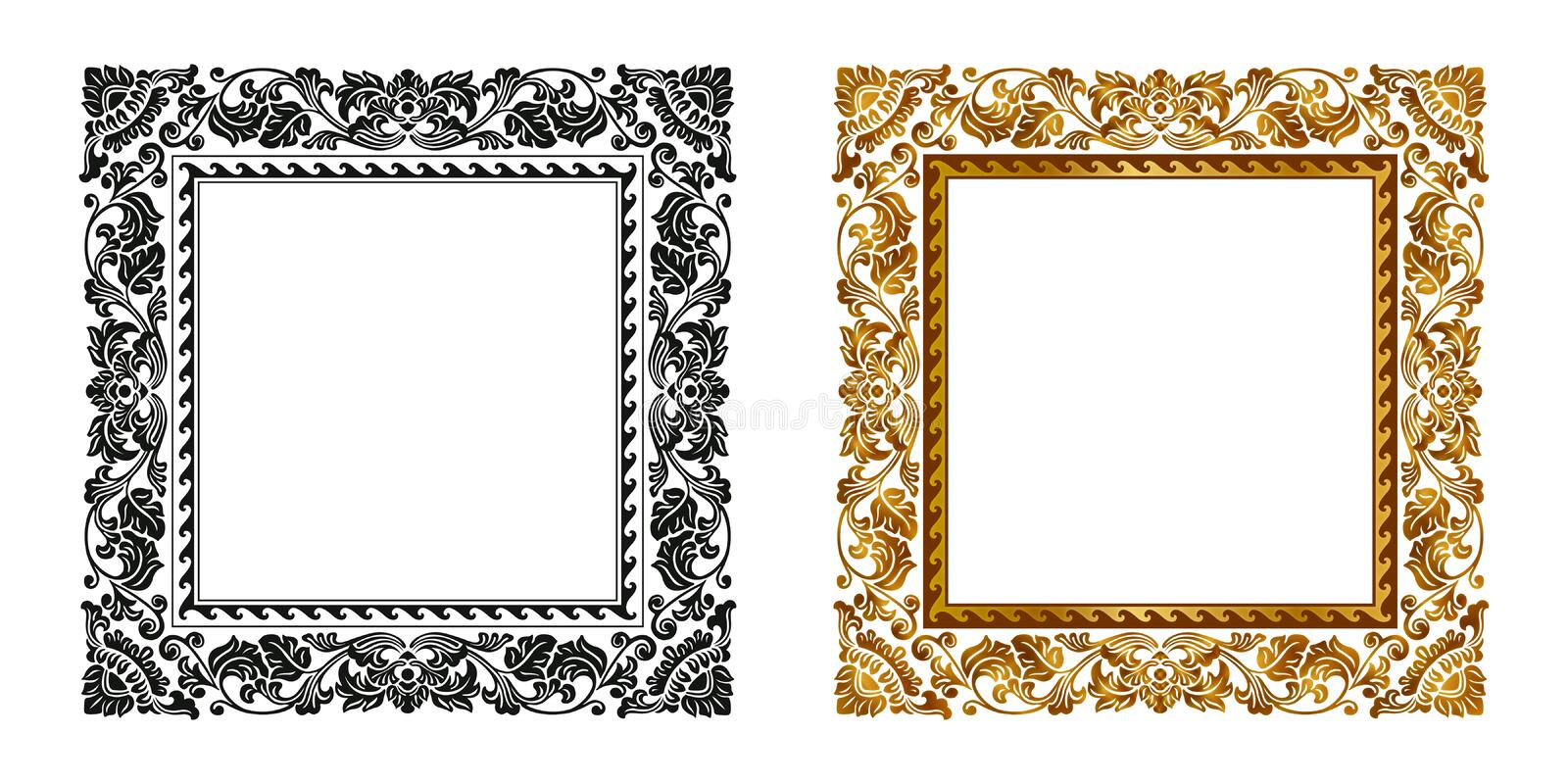 Download Frame stock vector. Image of antique, ornament, decorate - 22465875
