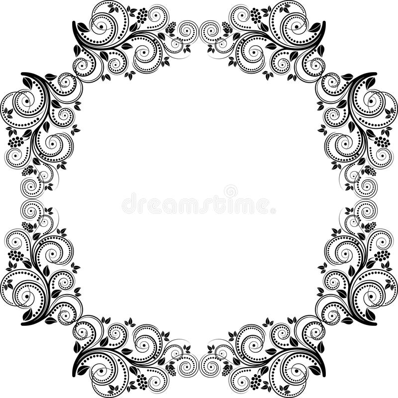 Download Frame stock vector. Image of decor, silhouette, graphic - 25457563