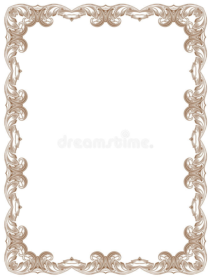 Download Frame stock vector. Image of ornate, paintings, curls - 27896665