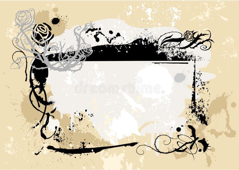 Frame 3 de Grunge ilustração stock