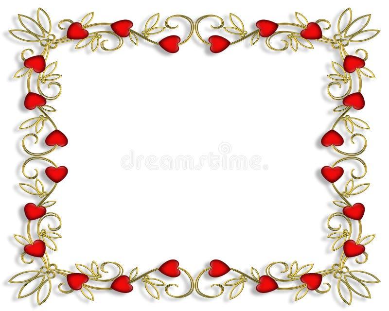 Frame 3D do Valentim ilustração do vetor