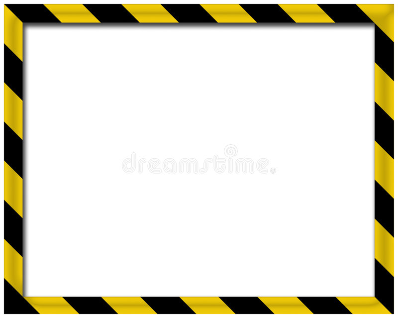 Frame 3D em branco ilustração stock