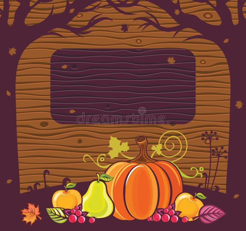 Frame 4 do feriado de acção de graças ilustração do vetor