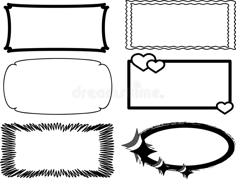 Frame royalty free illustration