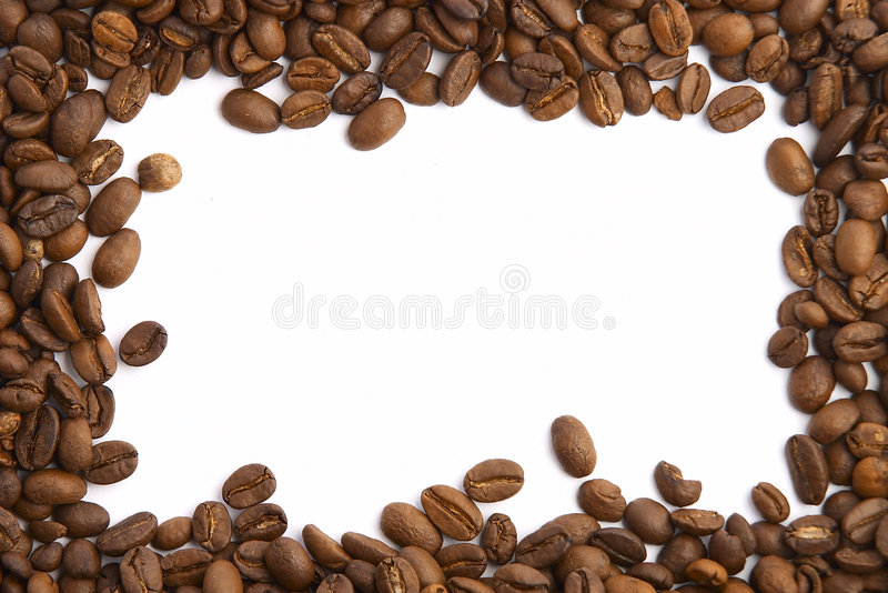 Frame. Coffee Bean Frame stock images