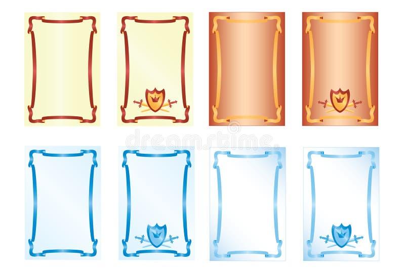 Frame. The form with a frame, illustration vector illustration