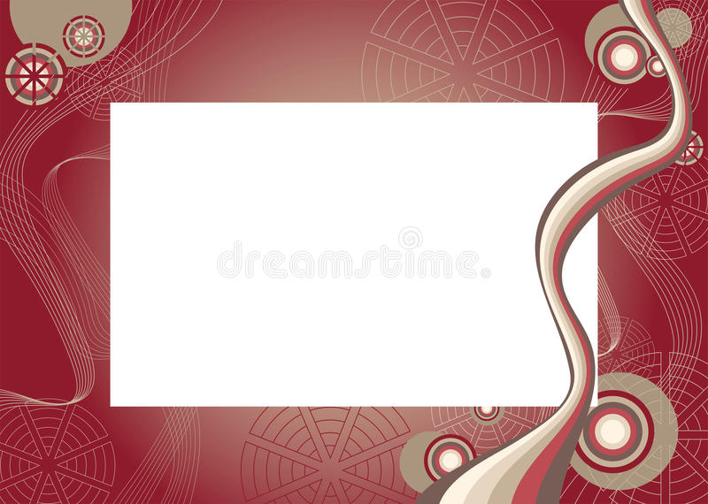 Download Frame With Abstract Pattern Stock Vector - Image: 19596810