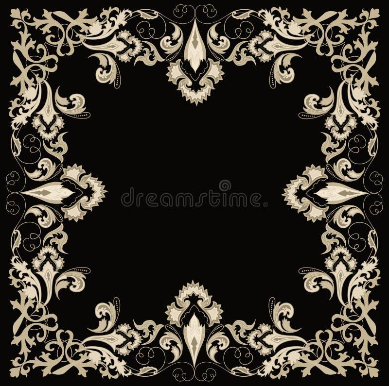 Frame. Abstracte ontwerp bloemenelementen. vector illustratie