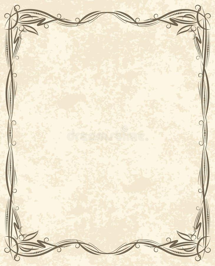 Frame abstrato ilustração do vetor