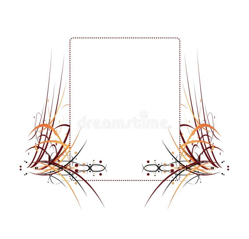 Frame abstrato colorido Elemen ilustração royalty free
