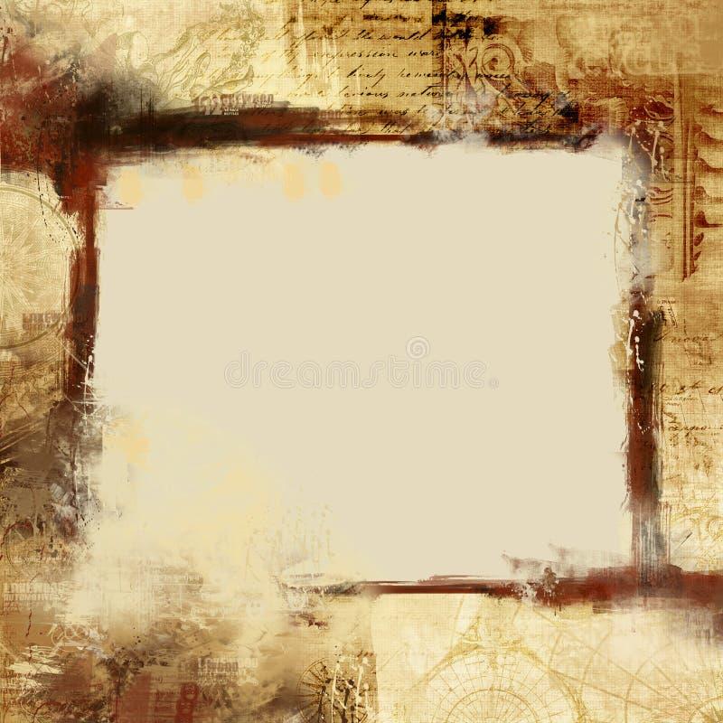 Frame abstrato do grunge ilustração stock
