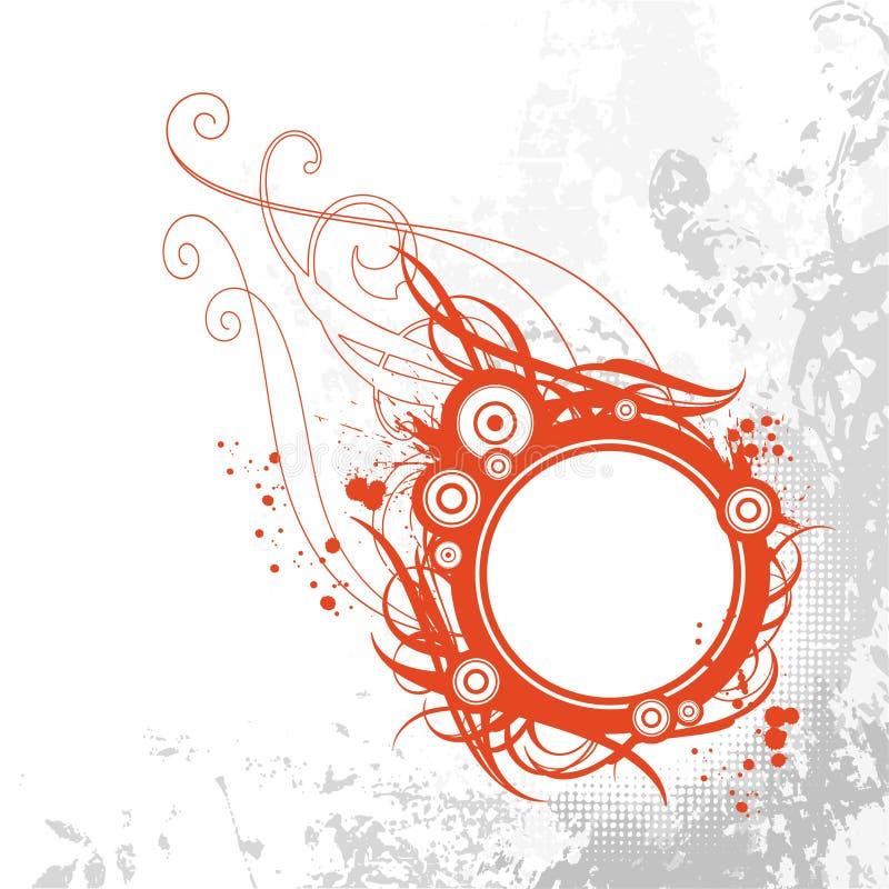 Frame abstrato do grunge ilustração do vetor