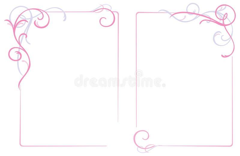 Frame abstrato do ornamento floral ilustração royalty free