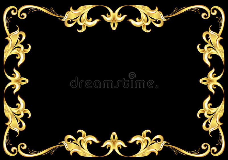 Frame abstrato do ouro. ilustração royalty free