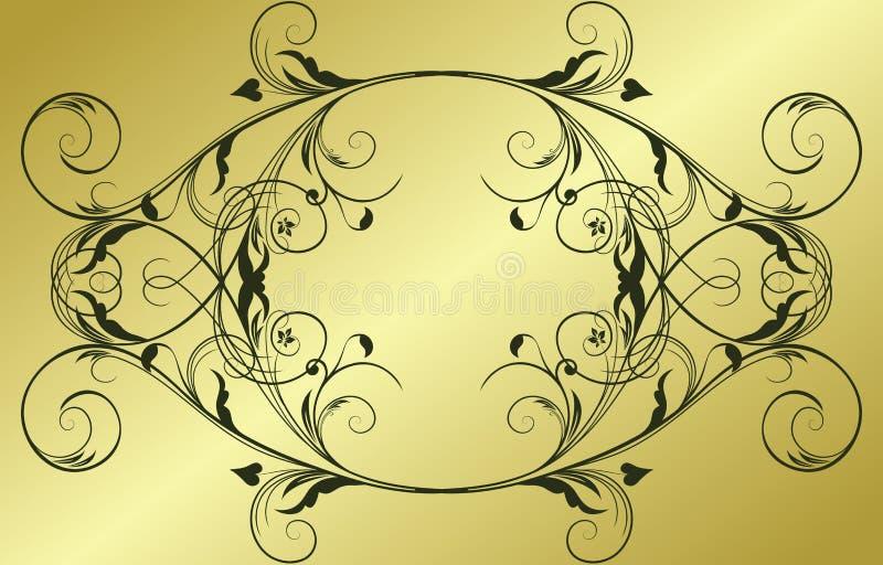 Frame abstrato do ouro ilustração royalty free