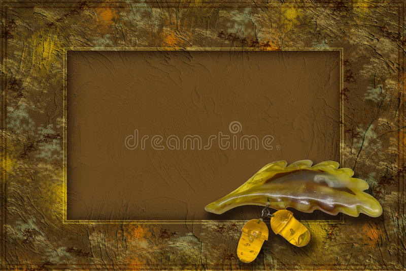 Frame with acorns royalty free stock photography