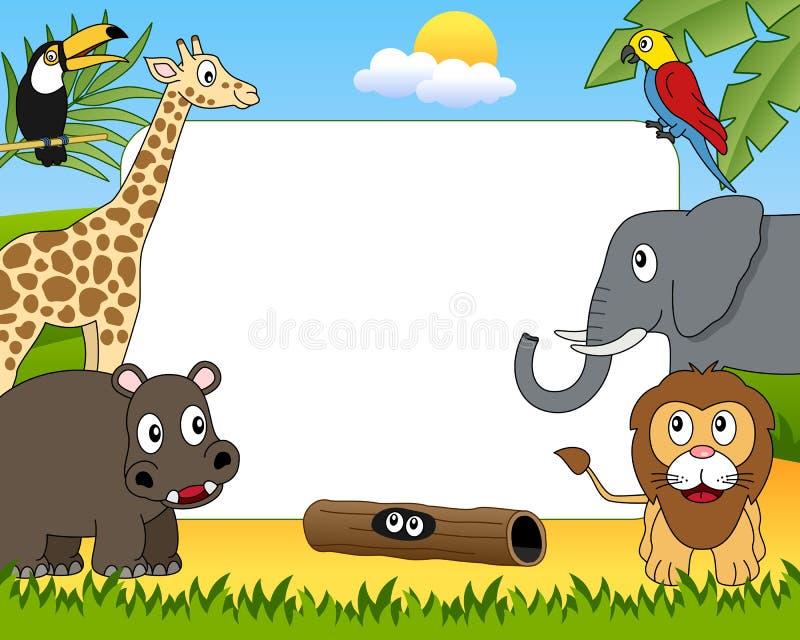 Frame africano da foto dos animais [1] ilustração stock