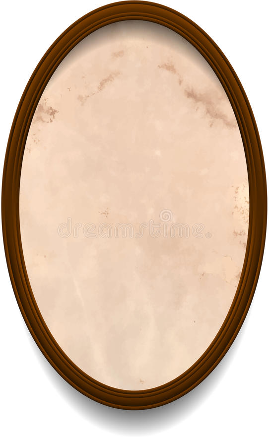 Frame with aged paper