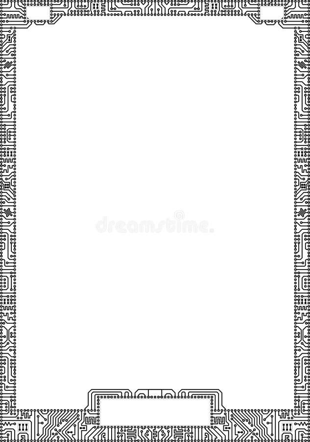 Frame alta tecnologia da placa de circuito do vetor ilustração royalty free