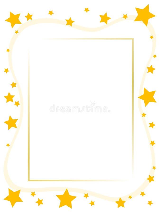 Frame amarelo da estrela ilustração stock