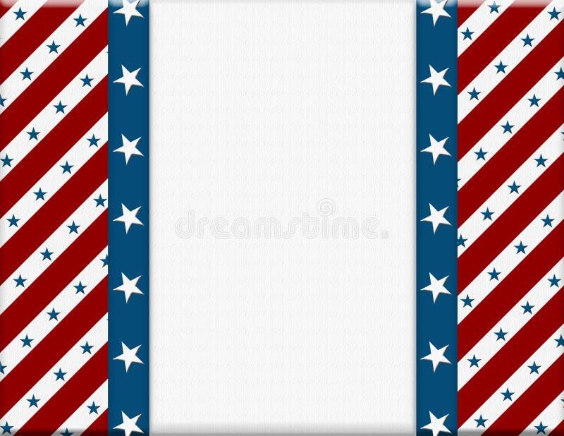 Frame americano vermelho e branco da celebração ilustração royalty free
