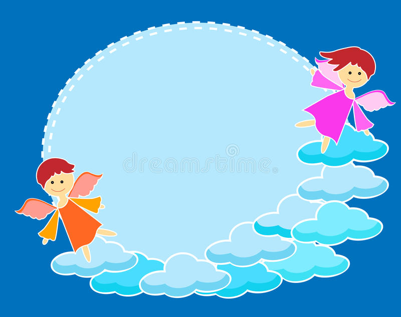 Frame with angels stock vector. Illustration of heaven - 40910269