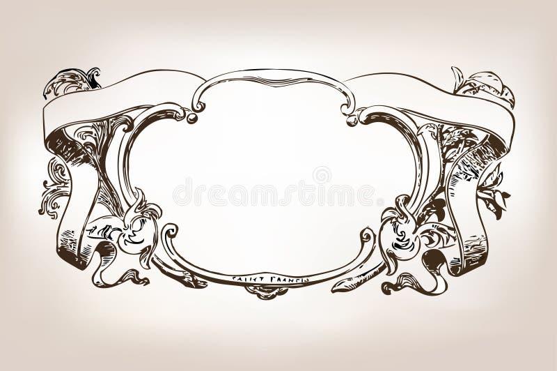 Frame antigo ilustração do vetor