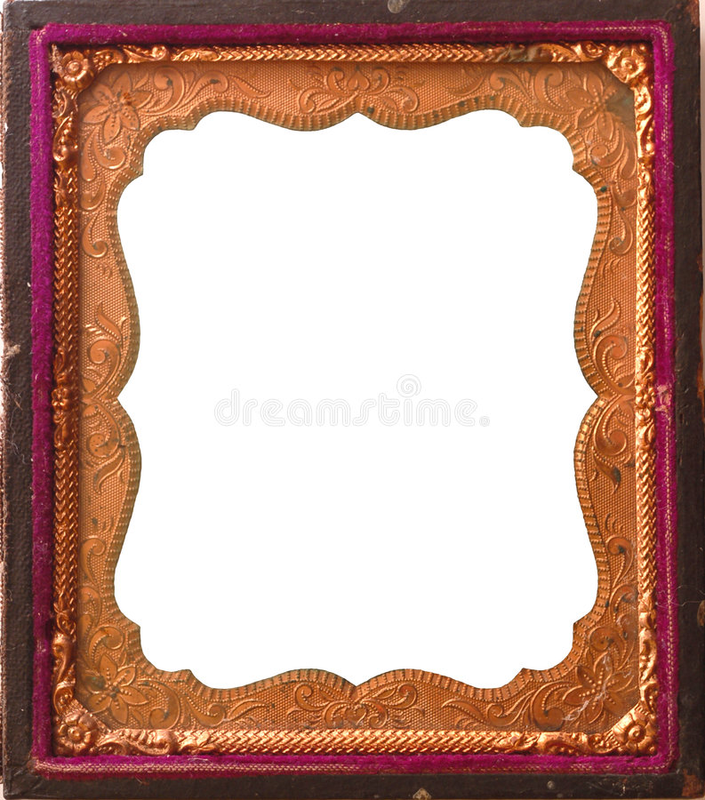 Frame antigo isolado do tintype imagens de stock