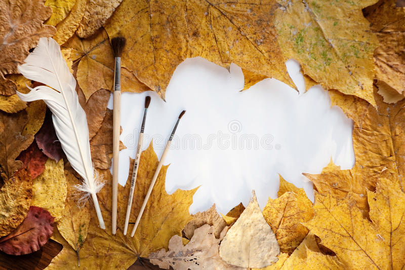 Download Frame from autumn leaves stock image. Image of border - 11494613