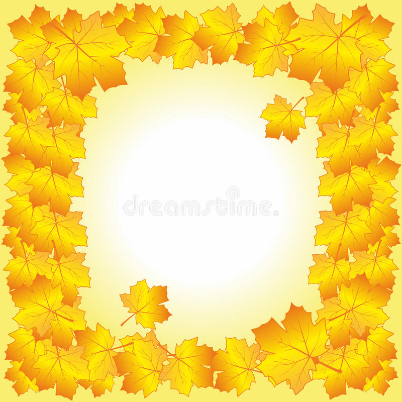 Download Frame of autumn leaves. stock photo. Image of autumn - 33778030