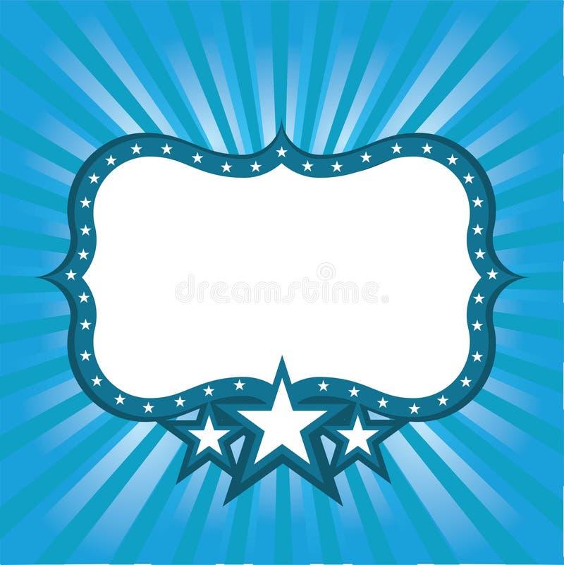 Frame azul com estrelas ilustração royalty free