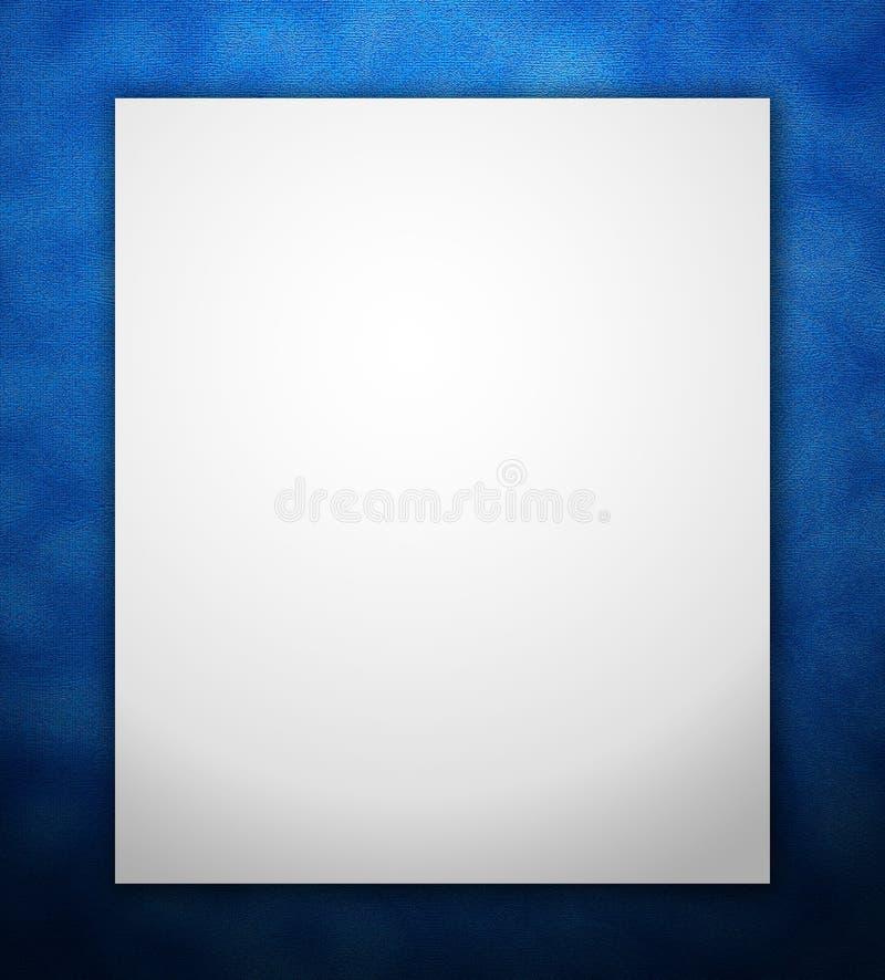 Frame azul da beira ilustração stock