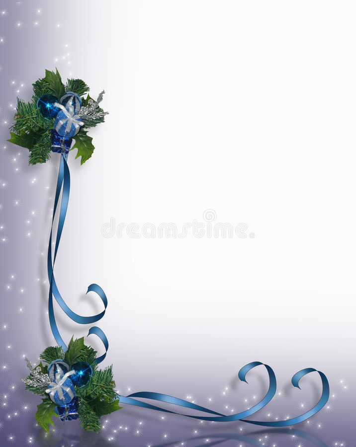 Frame azul da beira do Natal ilustração do vetor