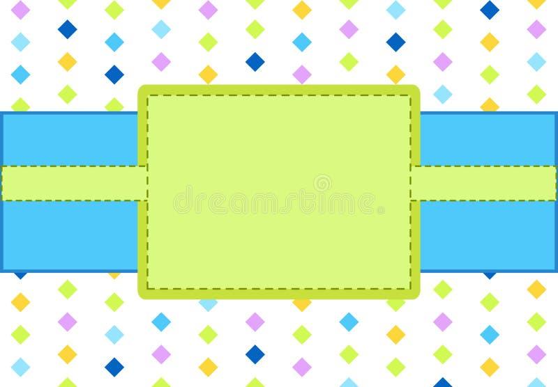 Frame azul e verde do projeto ilustração royalty free