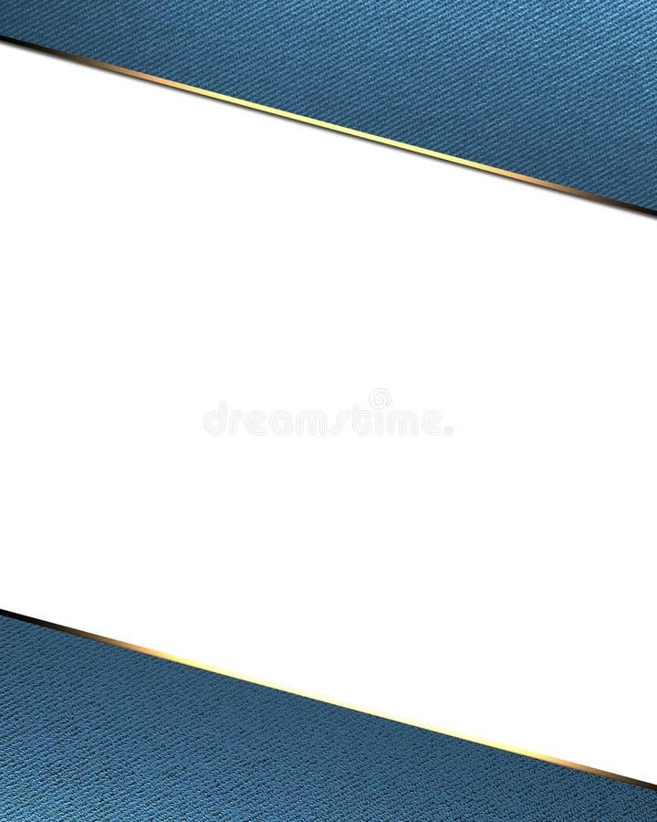 Frame azul no fundo branco Molde para o projeto copie o espaço para o folheto do anúncio ou o convite do anúncio ilustração do vetor