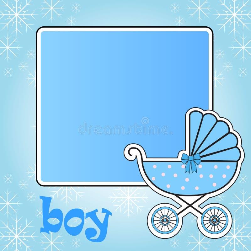 Frame for baby stroller for the boy. In vector EPS 10 stock illustration