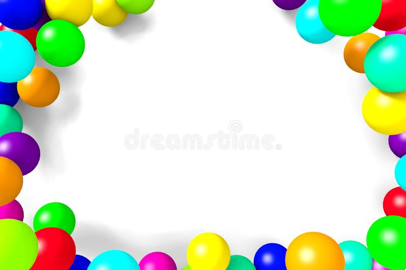 The frame of the balls on a white background. royalty free illustration