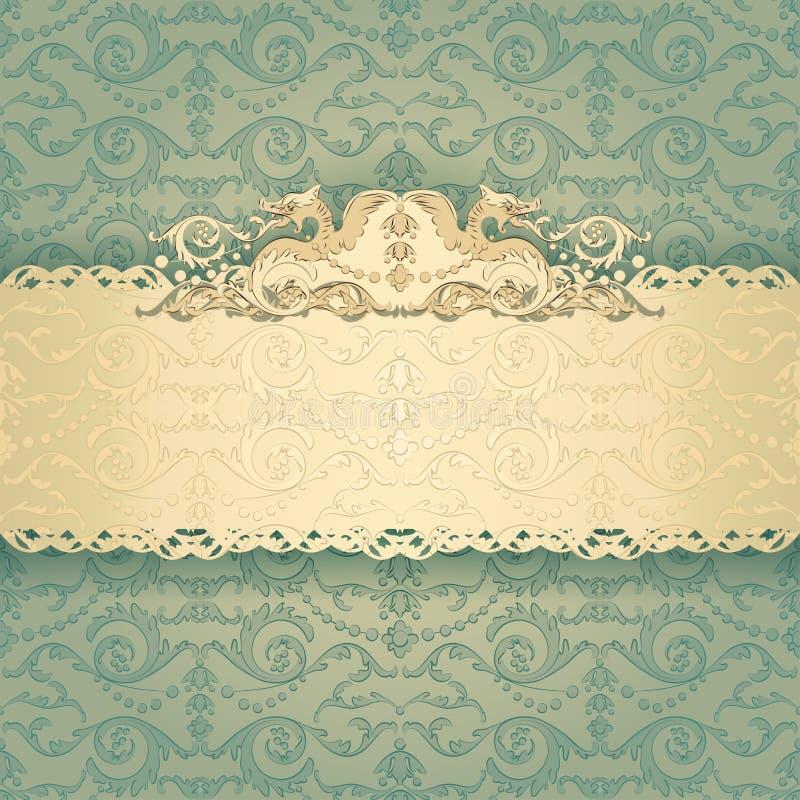 Frame Banner With Ornate Wallpaper Background Stock Vector