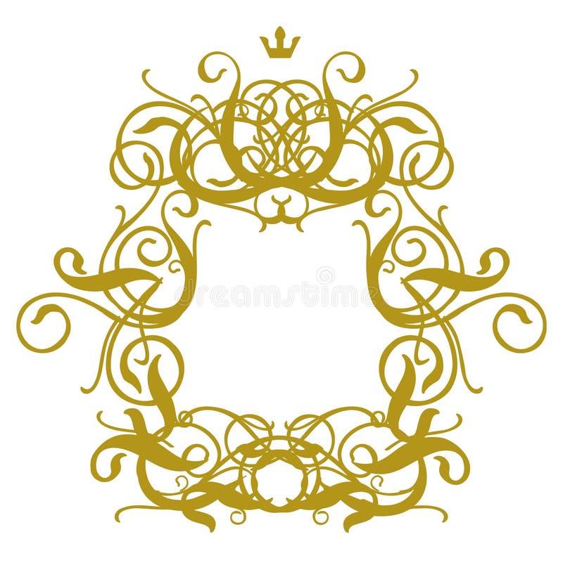 Frame Baroque I vector illustration