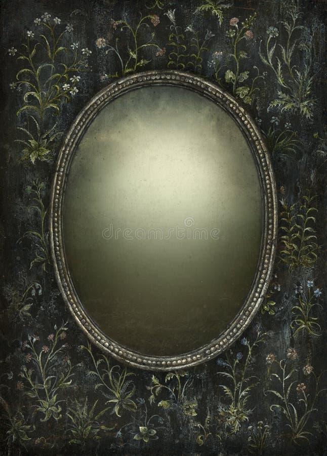 Frame barroco ilustração stock