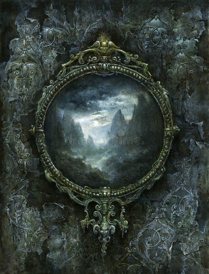 Frame barroco ilustração do vetor